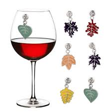 China <b>Creative Leaf Shape</b> Popular Ornament Wine Glass Ring ...