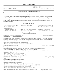 medical sales representative sample resume  medical sales     eluded co
