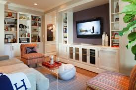 built in wall unit living room transitional with area rug beige couch built living room