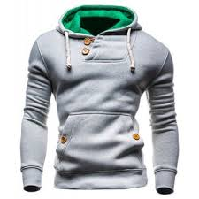 <b>IZZUMI</b> Hooded Long Sleeves Hoodie For Men - L LIGHT GRAY ...