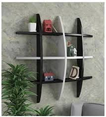 K J TRADERS s Globe Shape <b>MDF Floating Wall</b> Shelf, <b>Black MDF</b> ...