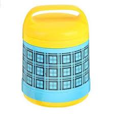 """<b>Термос суповой</b> """"Клетка"""" (внутри стекло) <b>1 л</b>, 2 тарелки, цвета ..."""
