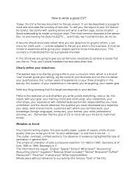 how to write a very good resume  how to write a good cv example    how to write a very good resume