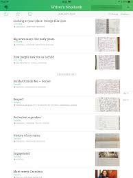 a master writer s notebook in evernote two writing teachers click on the image to enlarge