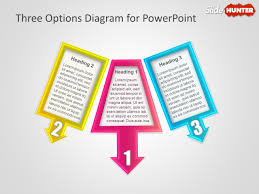 free  steps diagrams for powerpointthree options diagram for powerpoint presentations