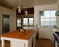 classic laminated pendant lighting kitchen design inspiration with wood textured kitchen island countertop also l shape bathroom lighting ideas modern hanging kitchen