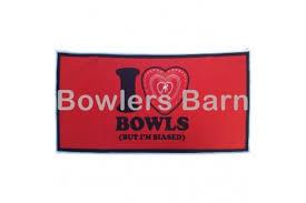 Super Dry Bowls Towel - I Love Bowls - Bowlers Barn