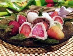 Японские пирожные «Моти». Ингредиенты: рисовая мука, сахар ...
