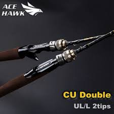 CU DOUBLE NEW 1.8m Fishing Rod Fast Action <b>UL</b>/<b>L</b> Double Tips ...
