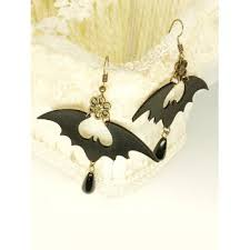 [30% OFF] 2020 <b>Halloween PU Bat Drop</b> Earrings In BLACK ...