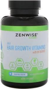 Zenwise Health <b>Daily Hair Growth Vitamins</b> With DHT Blocker, 120 ...