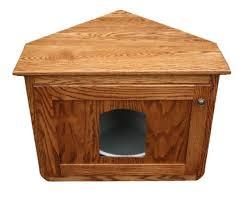 corner hidden cat litter enclosure oak wood furniture wooden kitty litter box arena kitty litter box