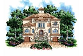 Eplans Mediterranean Modern House Plan    Story Beach Home      Front