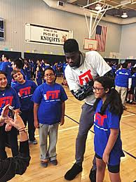 asm sports on today before his nbaallstar rising stars asm sports on today before his nbaallstar rising stars challenge debut nerlensnoel3 coached a nbafit clinic at ps is 87