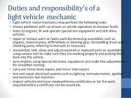 mechanic english presentation