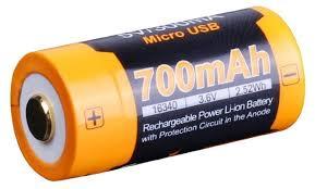 <b>Аккумулятор</b> Li-Ion <b>700</b> мА·ч <b>Fenix 16340</b> ARB-L16-<b>700U</b> — купить ...