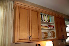 kitchen cabinet door trim:  inspiring how to install crown molding on kitchen cabinets ideal living room stainable moulding for kitchen
