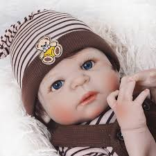 "Online Shop 22"" <b>full body silicone reborn</b> baby boy dolls brown hair ..."