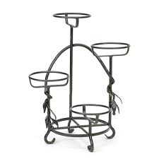 wrought iron cascading plant stand achla designs wrought iron