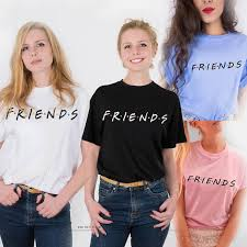 <b>Hot</b> Sale 21 Styles Fashion Letter <b>FRIENDS Printing</b> Short Sleeved ...