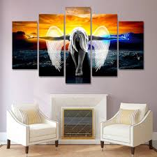 5Pcs Unframed Canvas Print Painting Picture <b>Modular Pictures Wall</b> ...