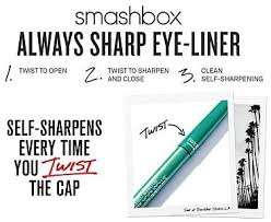 <b>Smashbox always sharp</b> waterproof eyeliner, Raven, 0.01 oz (0.28g ...