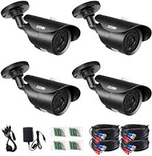 ZOSI 4 Pack 900TVL 960H Day Night Vision Weatherproof <b>42IR</b> ...