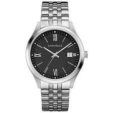 Bulova Men's <b>Caravelle New York</b> Silver Tone Stainless Steel Watch ...