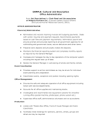 office administrator job description com gallery of office administrator job description