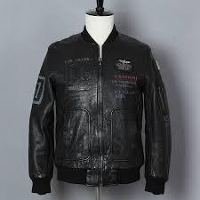 2019 Fashion Genuine Leather Jacket <b>Men Black Cow Leather</b> ...