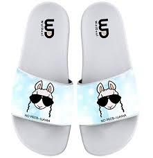 Cartoon <b>No Prob Llama</b> Sunglasses Summer Slide Slippers For Boy ...