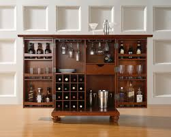 awesome dark brown wood glass stainless unique design home bar cabinet racks glass goblet bottle interior bar furniture designs home
