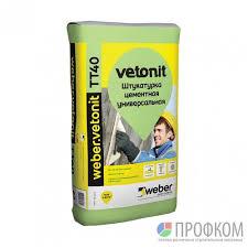 <b>Штукатурка цементная</b> влагостойкая <b>weber</b>.vetonit TT40 25 кг ...