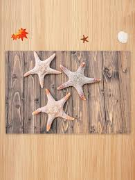 Wooden <b>3D Starfish Pattern Print</b> Floor Mat #Ad , #affiliate, #Pattern ...