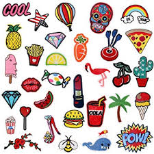Amazon.com: <b>Iron On Patches</b> 32 Pcs – <b>Embroidered Patches</b> ...