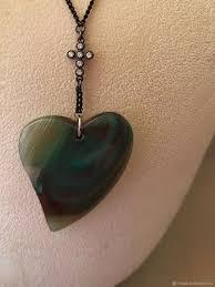 Цепь с <b>подвеской Сердце</b> – купить на Ярмарке Мастеров ...