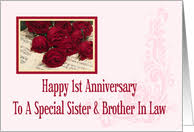 Year Specific Wedding Anniversary Cards for Sister & Brother in ...
