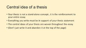 essay guide writing like a historian prompt what reasons lead 3 central idea of a thesis