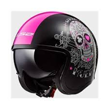 Ladies Motorcycle Helmets, <b>Spit Fire</b> Muerte <b>Skull</b>