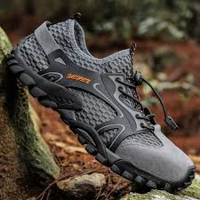 <b>Summer Breathable Men</b> Hiking Shoes Suede + Mesh Outdoor Men ...