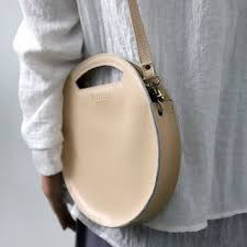 MINDODOJO <b>Genuine Leather Round</b> Crossbody <b>Bag</b>   YesStyle