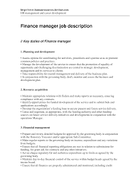 duties of finance manager template duties of finance manager