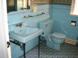 blue bathroom tile ideas:  vintage blue bathroom tiles ideas and pictures