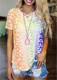 Женская <b>футболка</b> с коротким рукавом <b>Tie</b> Dye, летняя ...