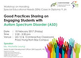 fste workshop series on handling special education needs cases fste workshop series on handling special education needs cases in diploma yi jin autism spectrum disorder