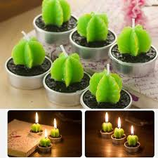 Non-spilling Cactus Candles for <b>Home Decoration 6 Pcs</b> | Wish