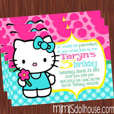 hello kitty party printable collection mimi s dollhouse full pic invite display no picture