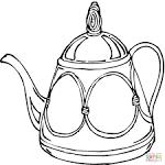 Заварочный чайник раскраска