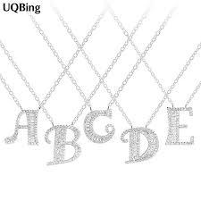 <b>EUDORA 100</b>% <b>925</b> Sterling Silver 26 Letter Name Pendant ...