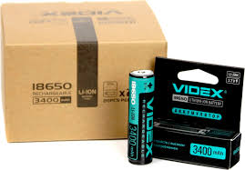 <b>Аккумулятор VIDEX 18650</b> 3400mAh 1pcs/box с защитой ...